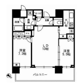 THE ROPPONGI TOKYO CLUB RESIDENCE 23階 間取り図