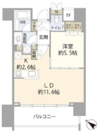 THE ROPPONGI TOKYO CLUB RESIDENCE 17階 間取り図
