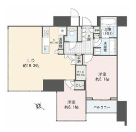 THE ROPPONGI TOKYO CLUB RESIDENCE 14階 間取り図