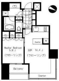 THE ROPPONGI TOKYO CLUB RESIDENCE 11階 間取り図