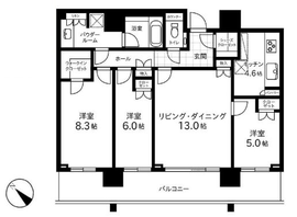 THE ROPPONGI TOKYO CLUB RESIDENCE 22階 間取り図